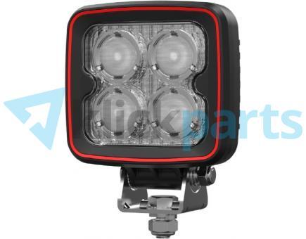 Weldex LED Arbeitsscheinwerfer eckig / 2680lm / 25° / Deutsch-Stecker