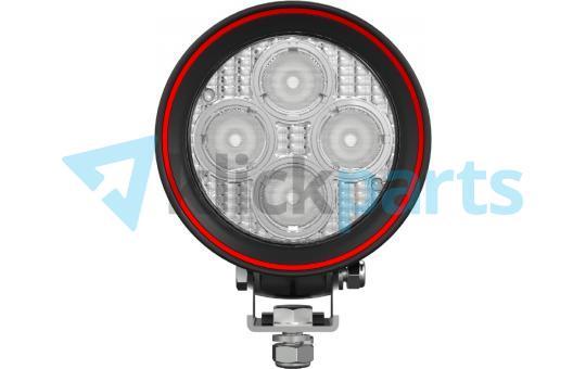 Weldex LED Arbeitsscheinwerfer rund / 1600lm / 60° / Deutsch-Stecker