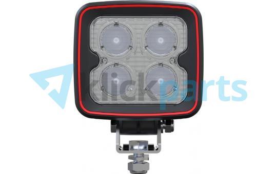 Weldex LED Arbeitsscheinwerfer eckig / 1600lm / 40° / Deutsch-Stecker